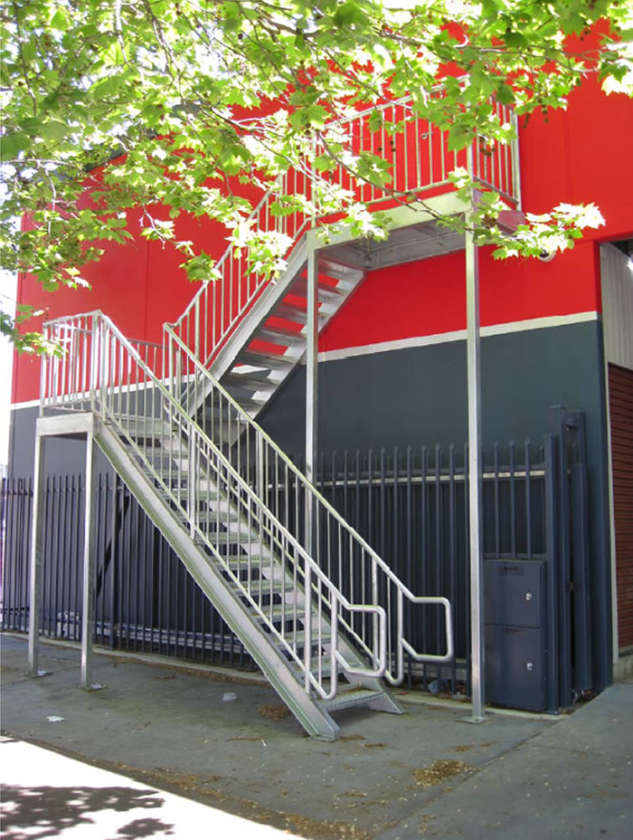 Fire escape staircase made by Alltek welding